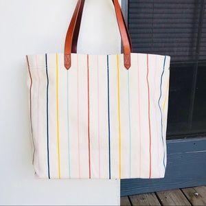 【NWT】Madewell Rainbow Stripe Canvas Tote